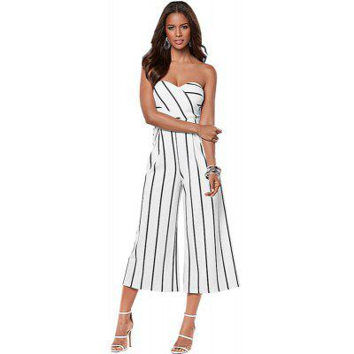 Women's Jumpsuits Strapless Wide Leg Casual Jumpsuits