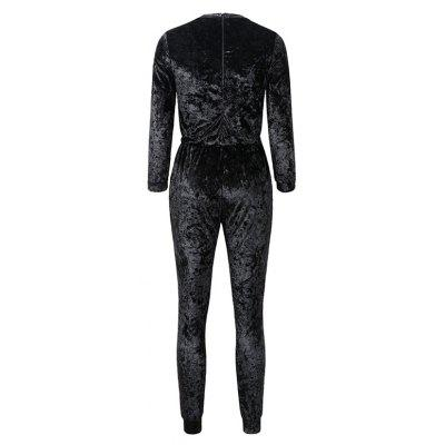 WomenS Clothing Fashion Gold Velvet Long-Sleeved JumpsuitsJumpsuits &amp; Rompers<br>WomenS Clothing Fashion Gold Velvet Long-Sleeved Jumpsuits<br><br>Elasticity: Micro-elastic<br>Fabric Type: Velour<br>Fit Type: Skinny<br>Material: Cotton, Cashmere<br>Package Contents: 1XJumpsuits<br>Package weight: 0.4000 kg<br>Pattern Type: Solid<br>Style: Casual<br>With Belt: No