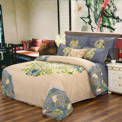 Autumn Chinese Style  Bedding Aticle Four Piece Suit