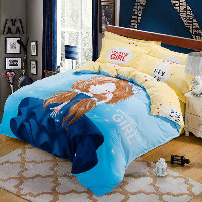 Autumn Love Pattern Bedding Article Four Piece Suit