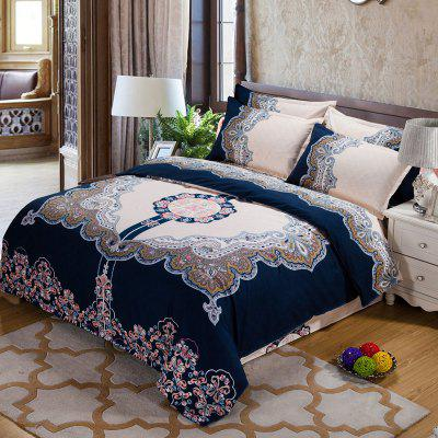 Autumn Retro Pattern Bedding article Four piece suit