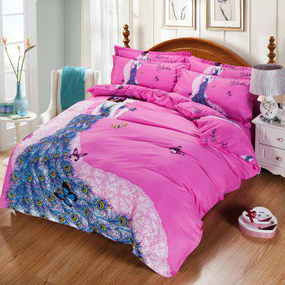 Autumn Art  Pattern Bedding article Four piece suit