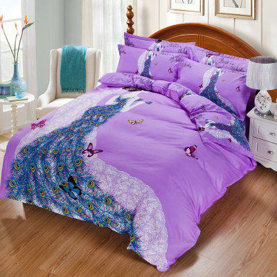 Autumn Art Violet  Pattern Bedding article Four piece suit
