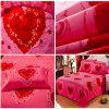 Autumn Gules Love Pattern Bedding article Four piece suit - FLAME