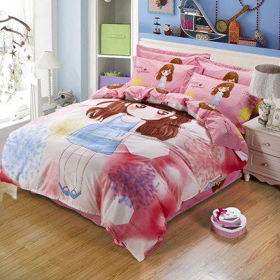 Autumn Girl Pattern Bedding article Four piece suit