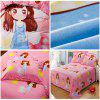 Autumn Girl Pattern Bedding article Four piece suit - PINK