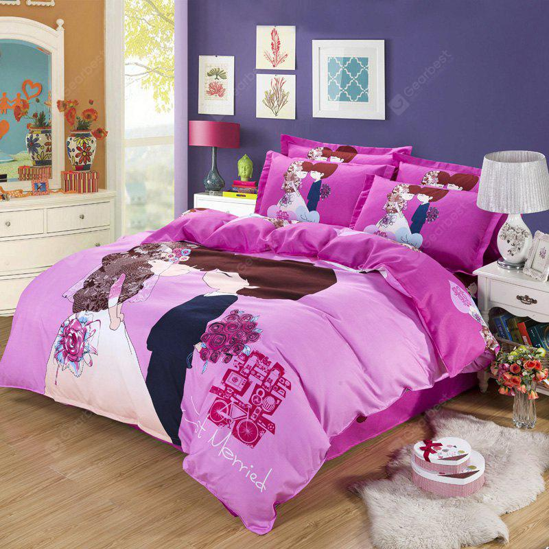 Autumn Edge set life  Pattern Bedding article Four piece suit