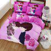Autumn Edge set life  Pattern Bedding article Four piece suit - PINK