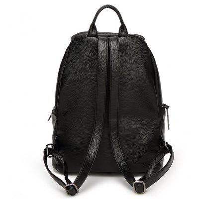 2017 Trendy High-end Fashion Bag Double Shoulder Bag College Wind Lock Backpack Student BagBackpacks<br>2017 Trendy High-end Fashion Bag Double Shoulder Bag College Wind Lock Backpack Student Bag<br><br>Capacity: 11 - 20L<br>Color: Black<br>For: Casual, Traveling, Sports<br>Gender: Unisex<br>Material: PU Leather<br>Package Contents: 1 x Backpack<br>Package size (L x W x H): 28.00 x 18.00 x 34.00 cm / 11.02 x 7.09 x 13.39 inches<br>Package weight: 0.6000 kg<br>Strap Length: 40cm<br>Style: Leisure, Sport<br>Type: Backpack