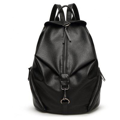 2017 Trendy High-end Fashion Bag Double Shoulder Bag College Wind Lock Backpack Student Bag