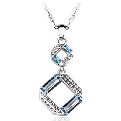 Sterling Silver Plated Ocean Blue Jewelry Pendant Necklaces for Womens Girls