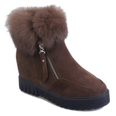 Ladies Fashion Plush Short Boots