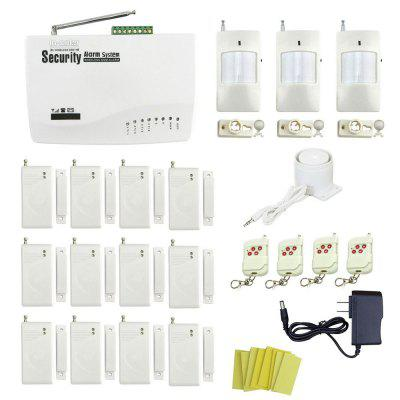 IN-COLOR Global Universal Wireless GSM Home Security Alarm System with 12 Door Detectors and 3 Wireless Infrared Detectors