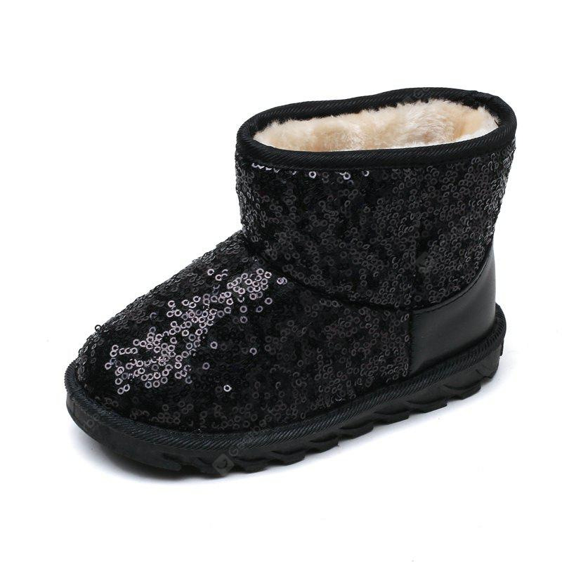 Winter Girls Cashmere Faux Suede Slip On Snow Boots