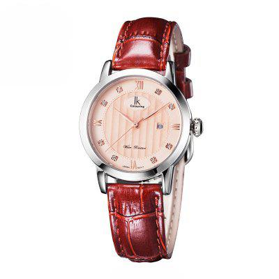 IKCOLOURING 98452L 4614 Leather Band Women Watch