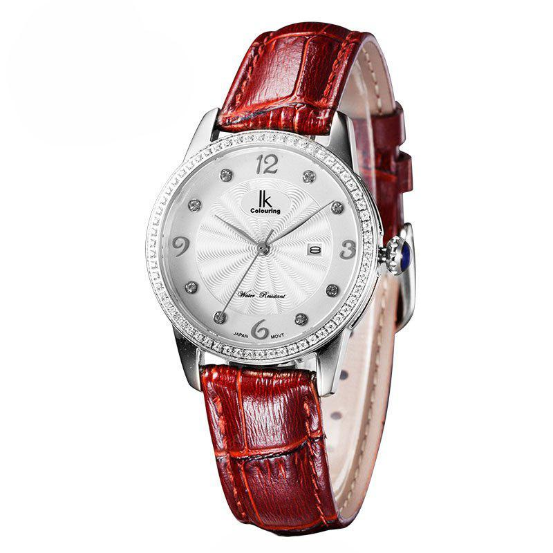 IKCOLOURING 98453L 4615 Leather Band Women Watch