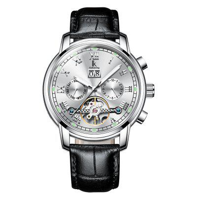 IKCOLOURING K010G 4629 Leather Band Men Watch