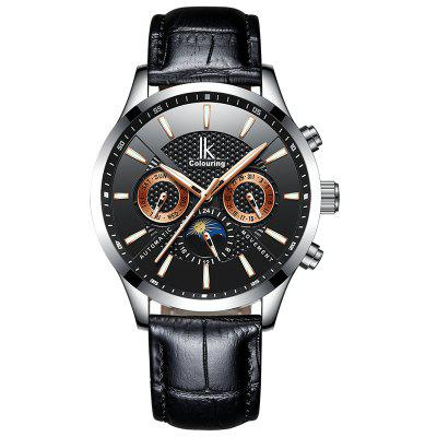 IKCOLOURING K017G 4630 Leather Band Men Watch