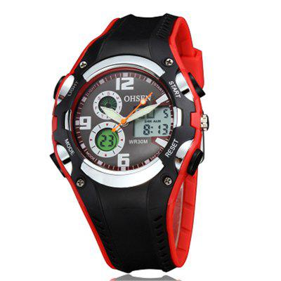 Buy RED OHSEN AD1309 4539 Rubber Band Men Quartz Watch for $19.68 in GearBest store