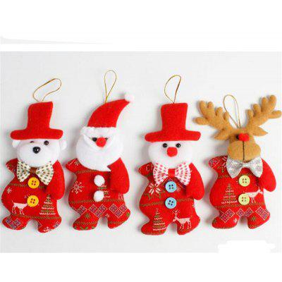 4pcs cute santa christmas tree decoration accessories - Christmas Tree Accessories