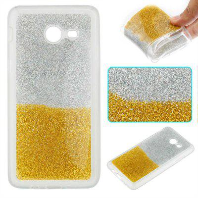 Flash Powder Painted Two-Color TPU Phone Case for Samsung Galaxy J5 2017