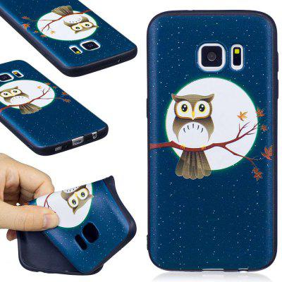 Buy BLACK AND BROWN Embossed Painted TPU Phone Case for Samsung Galaxy S7 for $4.03 in GearBest store