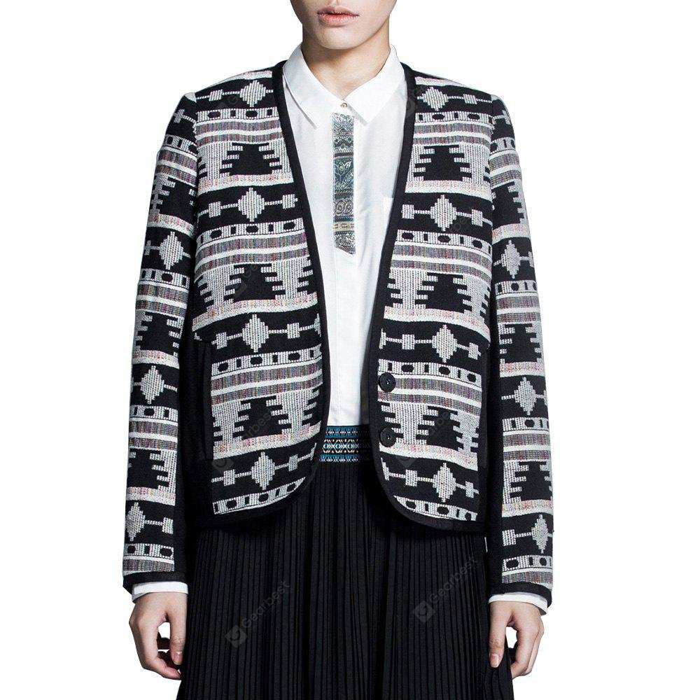 VING Jacket Vintage embroidery Loose Blazer Faminions