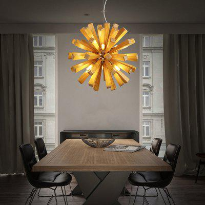 Buy WOOD ZGPAX ZG8001 Creative Wooden Squid Thorn Ball Chandelier for $255.50 in GearBest store