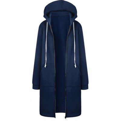 2017 New Thick Long Style Hoodie Jacket