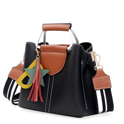 Wide Shoulder Strap Fringed Handbags Europe and the United States Fashion Ladies PackageHandbags<br>Wide Shoulder Strap Fringed Handbags Europe and the United States Fashion Ladies Package<br><br>Closure Type: Zipper<br>Embellishment: Tassel<br>Exterior: Silt Pocket<br>Gender: For Women<br>Handbag Type: Totes<br>Lining Material: Polyester<br>Main Material: PU<br>Number of Handles / Straps: Two<br>Package Contents: 1x Women Handbag, 1x Tassel<br>Package size (L x W x H): 26.00 x 13.00 x 22.00 cm / 10.24 x 5.12 x 8.66 inches<br>Package weight: 0.7100 kg<br>Pattern Type: Solid<br>Shape: Hobos<br>Style: Fashion<br>Weight: 1.4872kg