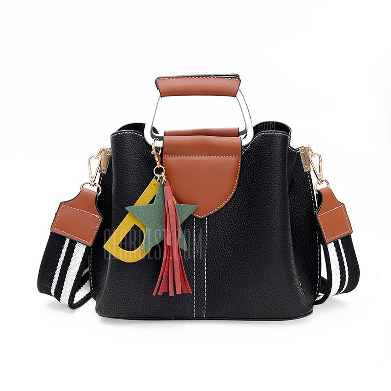 Wide Shoulder Strap Fringed Handbags Europe and the United States Fashion Ladies Package
