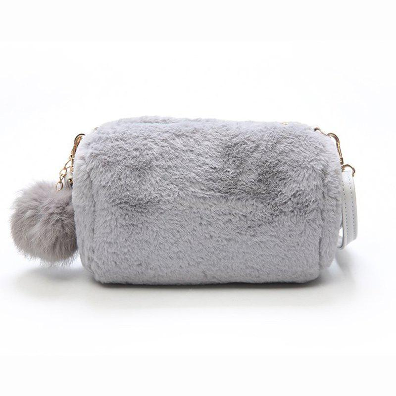 Autumn and Winter New fur Package Plush Shoulder Messenger Bag