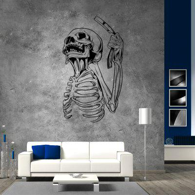 DSU Razor Skeleton Half Body One Hand Simple Art Wall Stickers