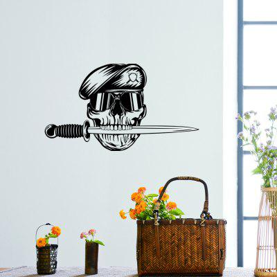 DSU Mouth With Knife Skull Wearing Sunglasses Soldiers Wall Stickers
