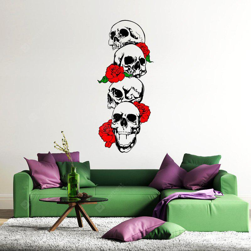 DSU Rose and Skeleton Color Wall Stickers