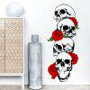 DSU Rose and Skeleton Color Wall Stickers - BLACK + ROSE