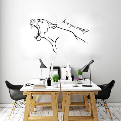 DSU Half body Leopard Roar Are You Ready Simple Art Wall StickersWall Stickers<br>DSU Half body Leopard Roar Are You Ready Simple Art Wall Stickers<br><br>Art Style: Plane Wall Stickers<br>Brand: DSU<br>Color Scheme: Black<br>Effect Size (L x W): 35 x 58cm<br>Function: Decorative Wall Sticker<br>Layout Size (L x W): 35 x 58cm<br>Material: Vinyl(PVC)<br>Package Contents: 1 x Wall Sticker<br>Package size (L x W x H): 40.00 x 5.00 x 5.00 cm / 15.75 x 1.97 x 1.97 inches<br>Package weight: 0.1100 kg<br>Product size (L x W x H): 35.00 x 58.00 x 0.01 cm / 13.78 x 22.83 x 0 inches<br>Product weight: 0.0600 kg<br>Quantity: 1<br>Sizes: Others<br>Subjects: Fashion,Animal,Abstract<br>Suitable Space: Living Room,Bedroom,Dining Room,Office,Hotel,Cafes,Door,Study Room / Office,Game Room<br>Type: Plane Wall Sticker