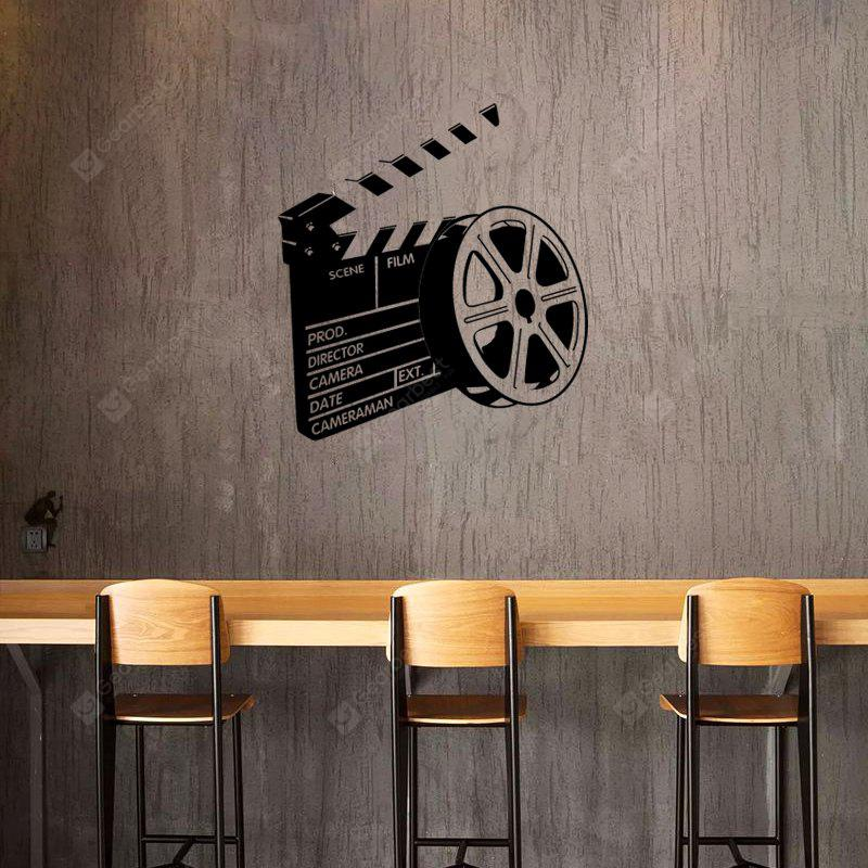 DSU Movie Film Silhouette Simple Art Wall Stickers