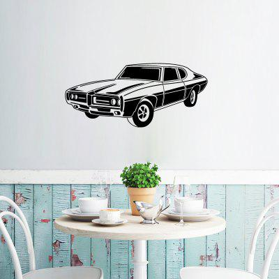 DSU WS0016 Retro Car Simple Art Wall Stickers
