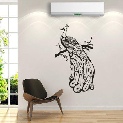 DSU WS0017 Simple Art Wall Sticker Peacock Stands on the Branches
