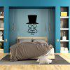 DSU WS0018 Simple Art Wall Stickers Hat Glasses and Moustache Contour - BLACK