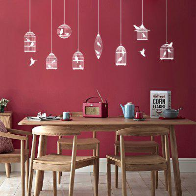 DSU WS0019 Birdcage Simple Art Wall Stickers