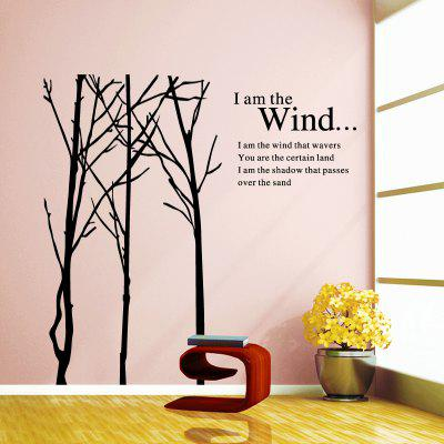 Buy DSU WS0025 Trunk Simple Style Art Wall Stickers, BLACK, Home & Garden, Home Decors, Wall Art, Wall Stickers for $8.70 in GearBest store