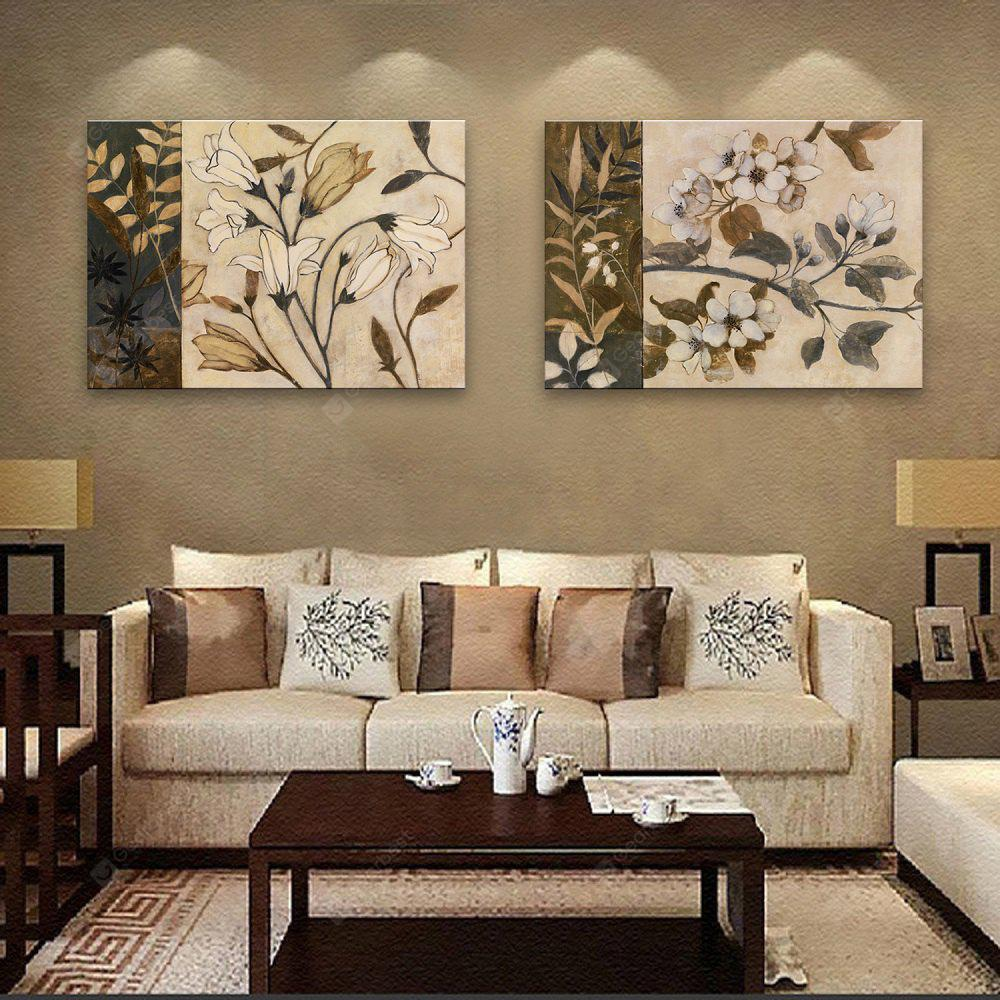 2PCS Special Design Frameless Paintings Hand-painted Restoring Ancient Ways