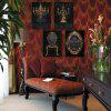 Design Frameless Paintings The Baroque of 4PCS - BLACK AND BROWN