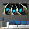Special Design Frameless Paintings Abstract the Beam of 3PCS - BLUE AND BLACK