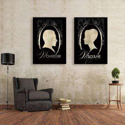 Special Design Frameless Paintings Image Contour of 2PCS