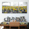 Special Design Frameless Paintings Sad Sunflower of 3PCS - GRAY