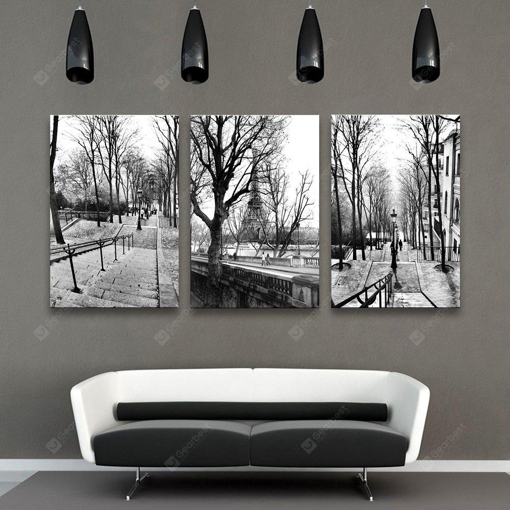 Special Design Frameless Paintings The five-arched Stroll of 3PCS