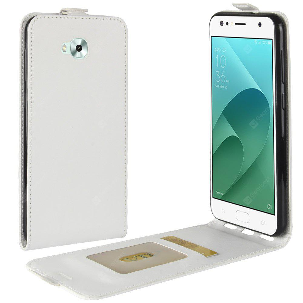 Durable Crazy Horse Pattern Up and Down Style Flip Buckle PU Leather Case for ASUS Zenfone 4 Selfie 5.5 inch (ZD553KL)